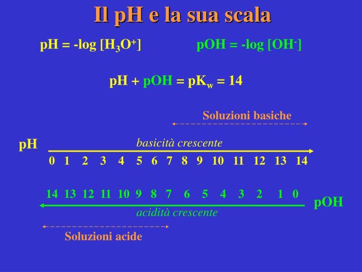 Il pH e la sua scala