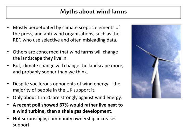 Myths about wind farms