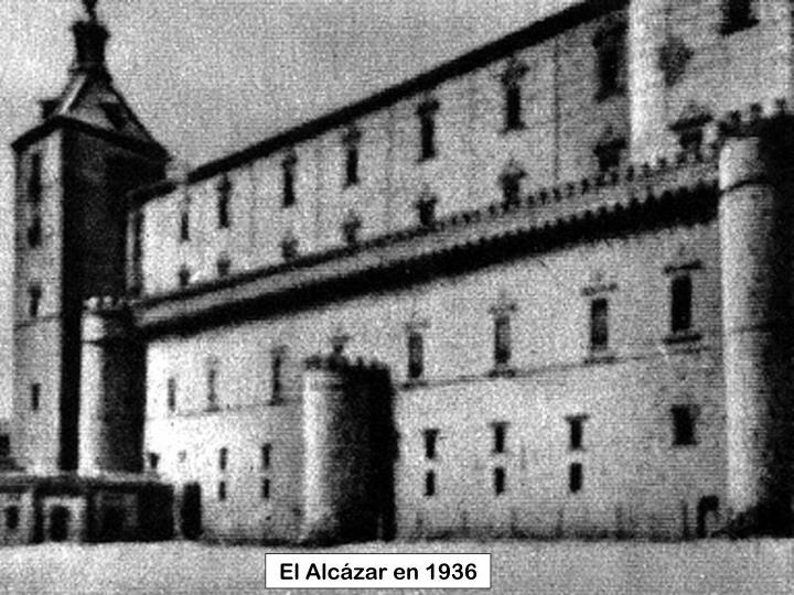 El Alcázar en 1936