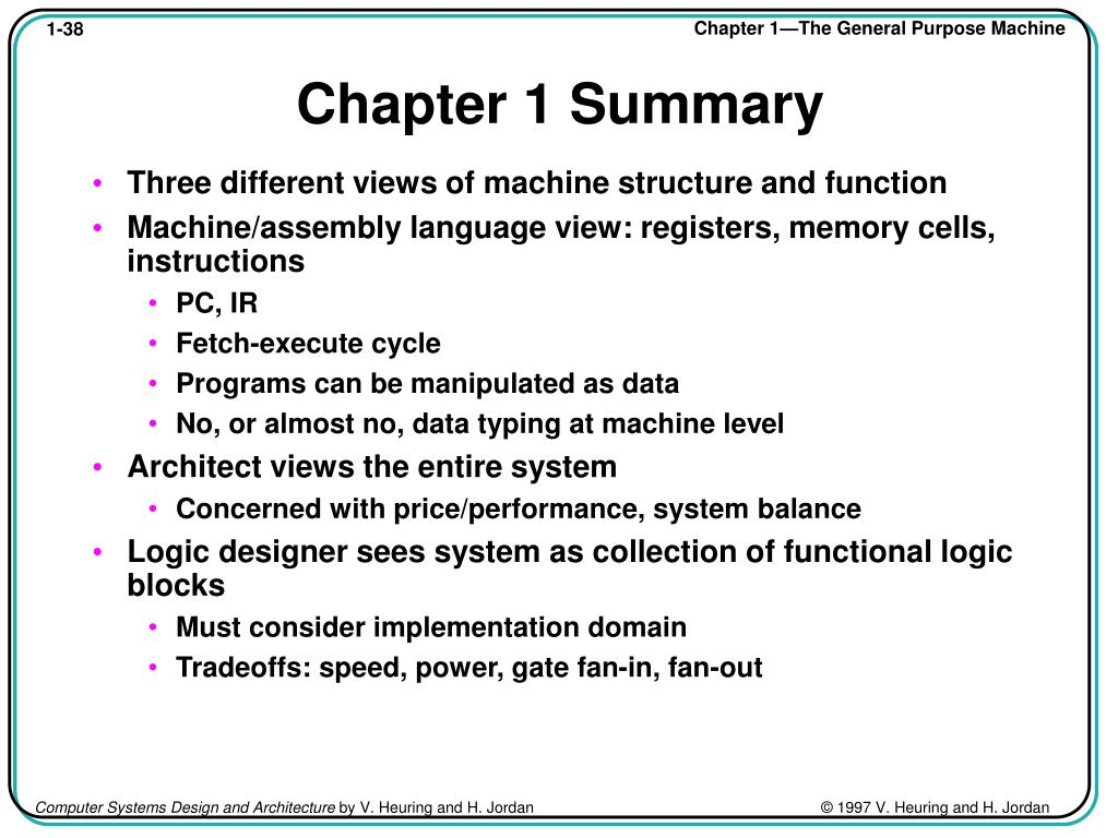 PPT - Chapter 1: The General Purpose Machine PowerPoint Presentation