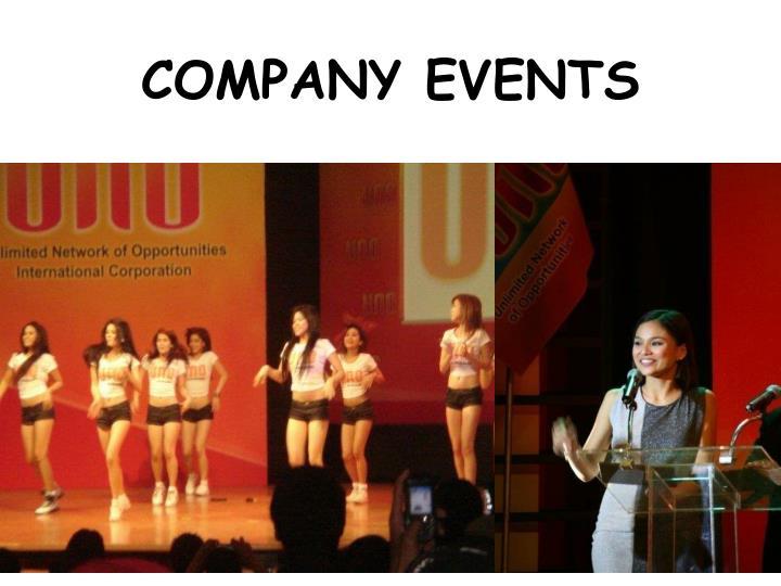 COMPANY EVENTS
