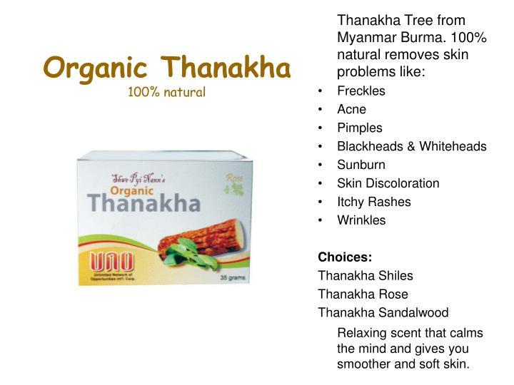 Organic Thanakha