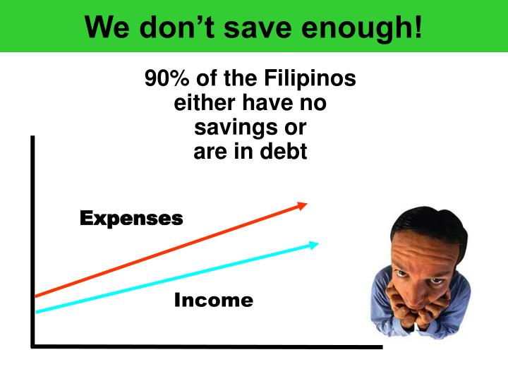 We don't save enough!