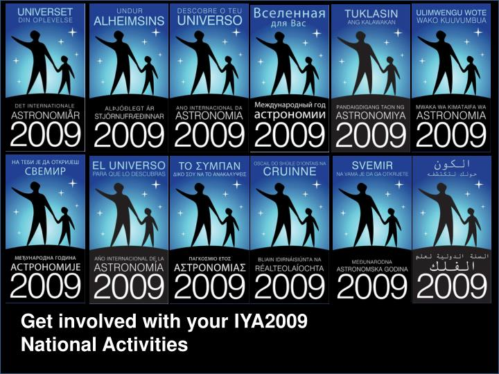 Get involved with your IYA2009 National Activities