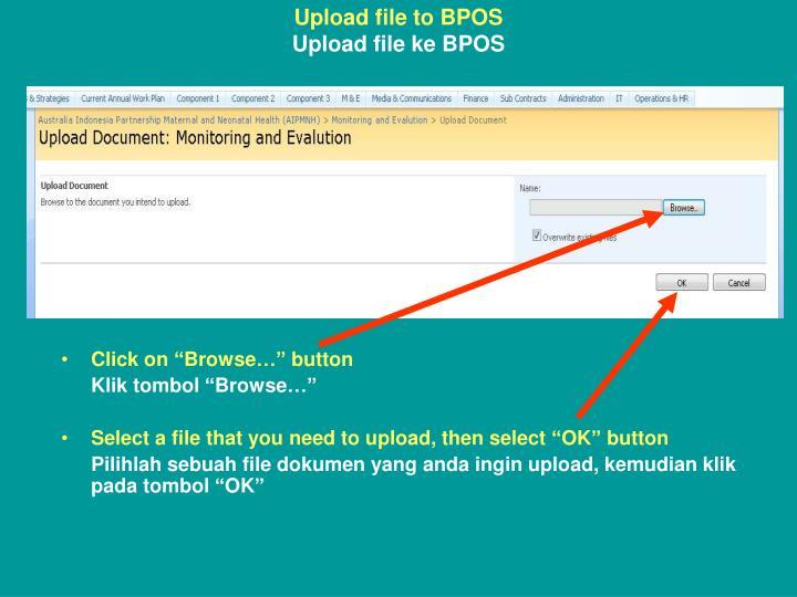 Upload file to BPOS