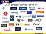 250 telecom service providers