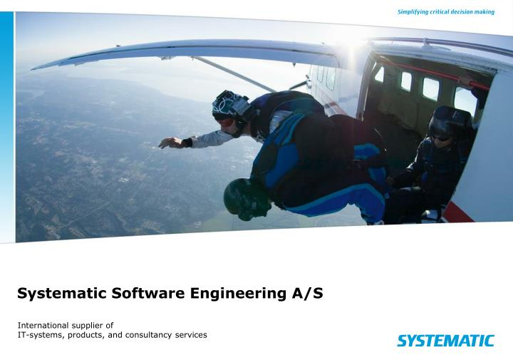 systematic software engineering a s n.
