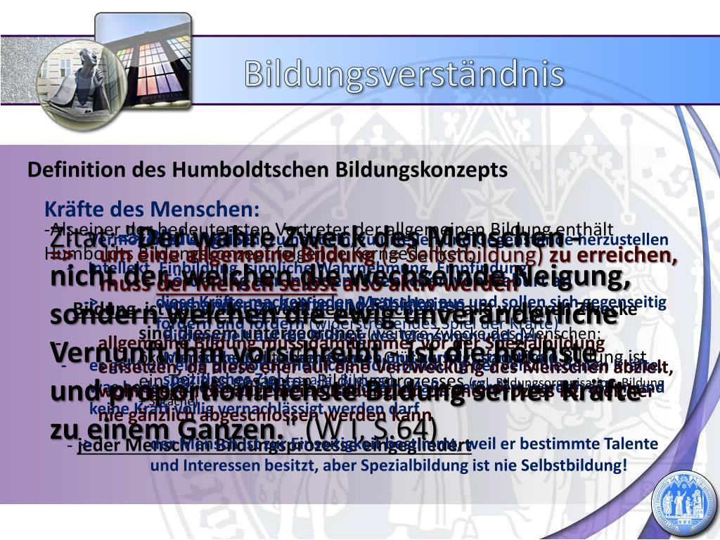 Ppt Bildung Nach Humboldt Powerpoint Presentation Free