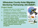 milwaukee county avian migration monitoring partnership mcammp