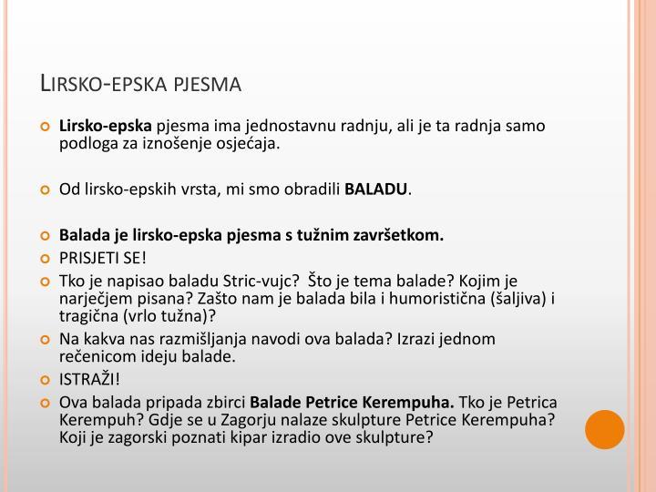 Lirsko-epska pjesma
