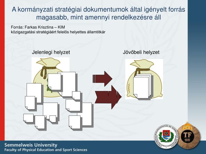 A kormányzati stratégiai dokumentumok által igényelt forrás magasabb, mint amennyi rendelkezésre áll