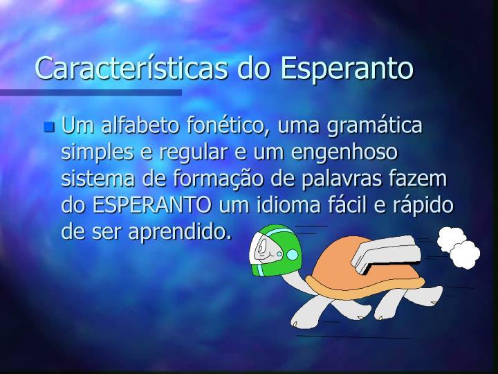 Características do Esperanto