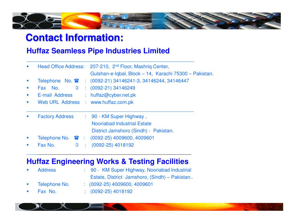 PPT - Huffaz Seamless Pipe Industries Limited PowerPoint