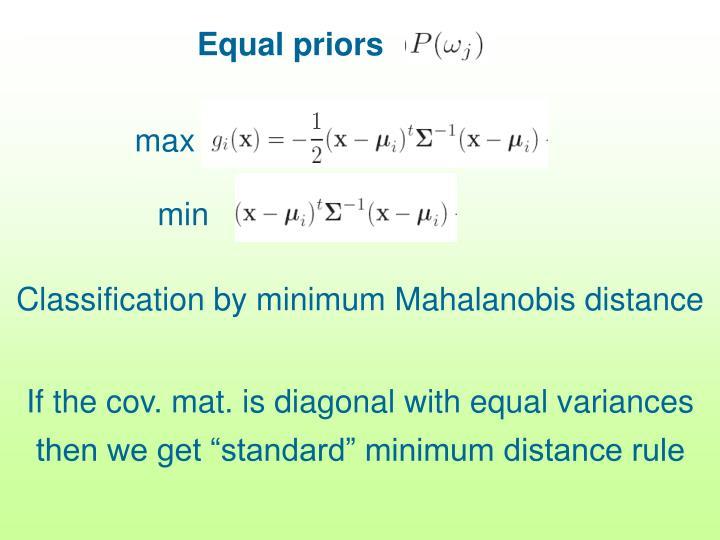 Equal priors
