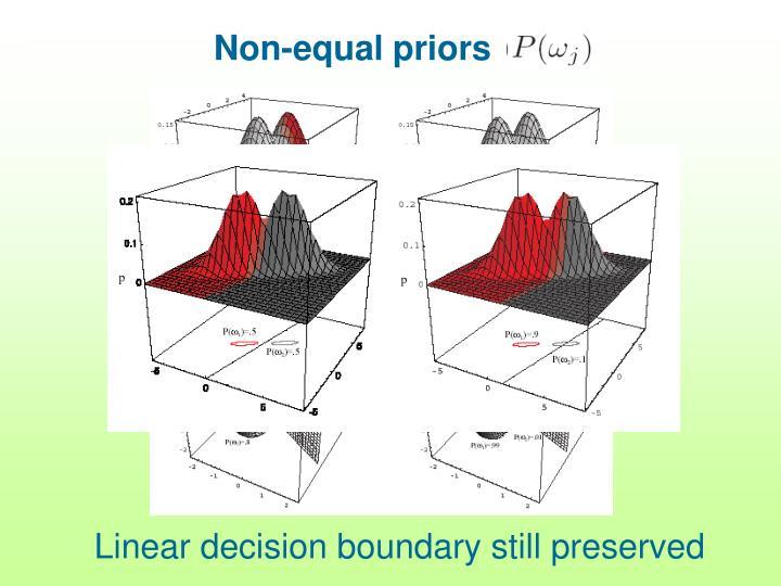 Non-equal priors