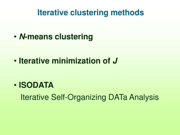 Iterative clustering methods