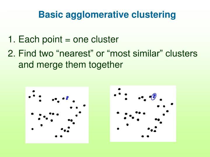 Basic agglomerative clustering