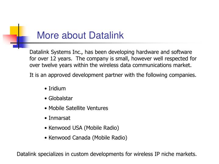 More about Datalink