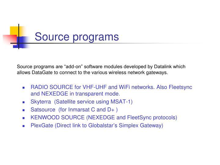 Source programs