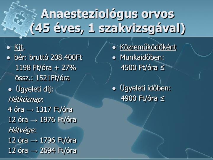Anaesteziológus orvos