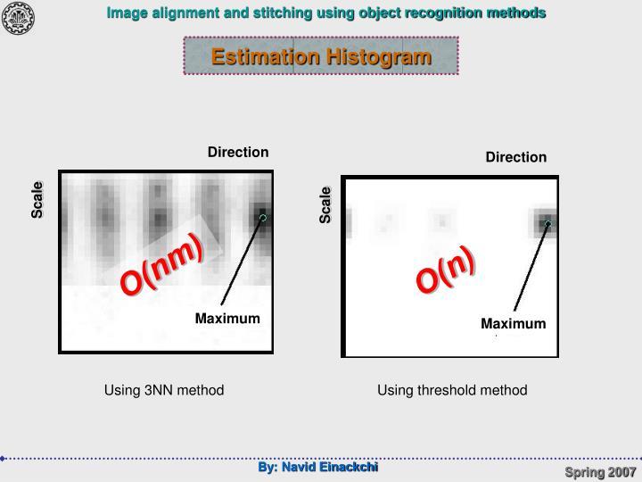 Estimation Histogram