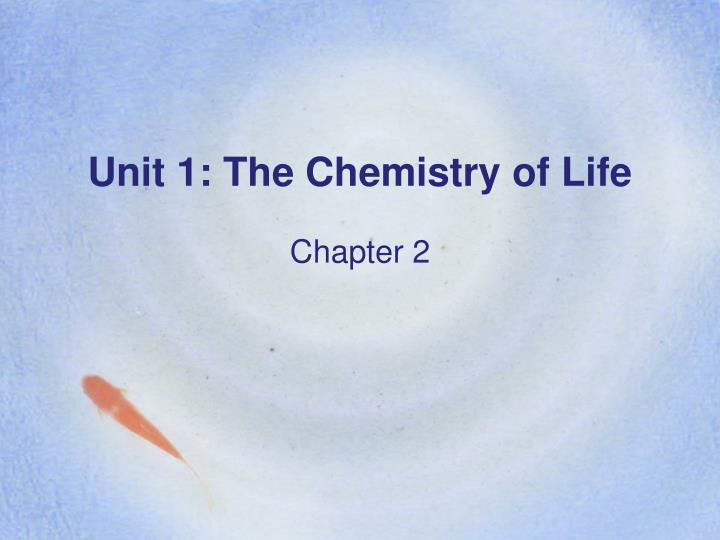 unit 1 the chemistry of life n.