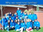 why we need host families