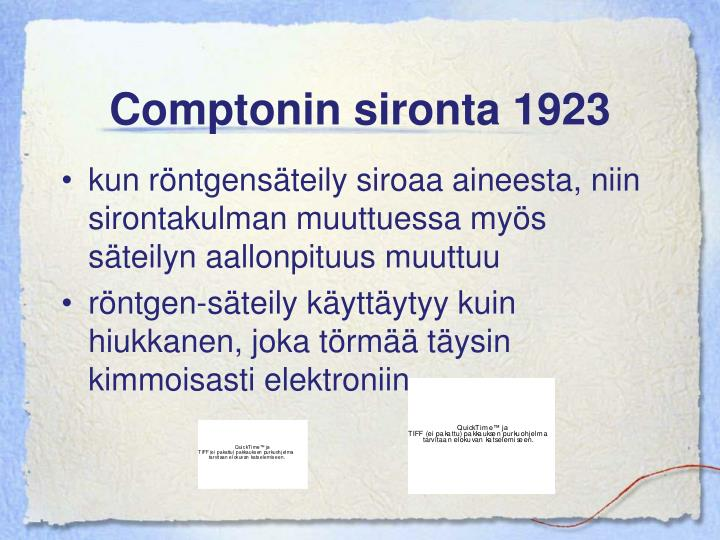 Comptonin sironta 1923
