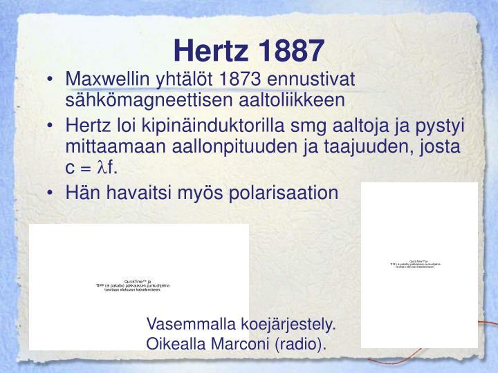 Hertz 1887