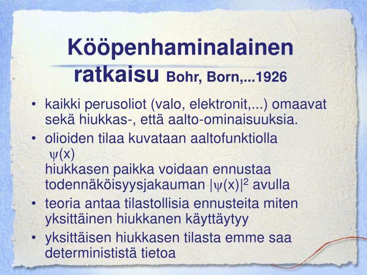 Kööpenhaminalainen ratkaisu