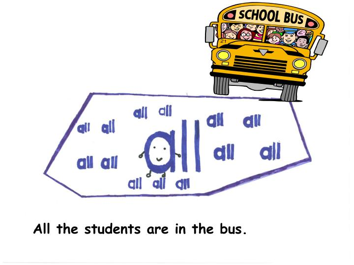 All the students are in the bus.
