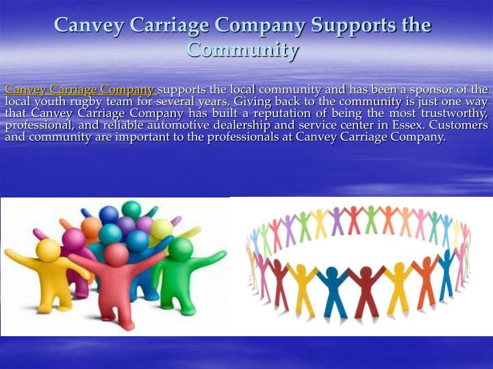Canvey carriage company supports the community