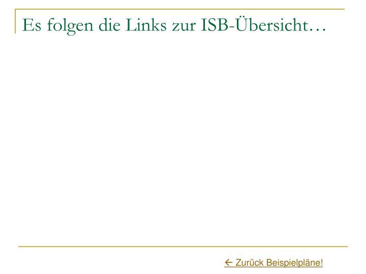Es folgen die Links zur ISB-Übersicht…