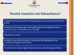 perch investire nel fotovoltaico