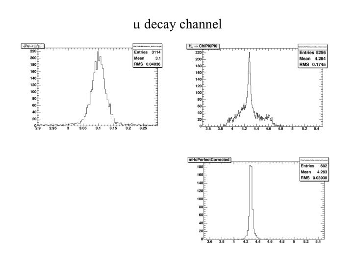 µ decay channel