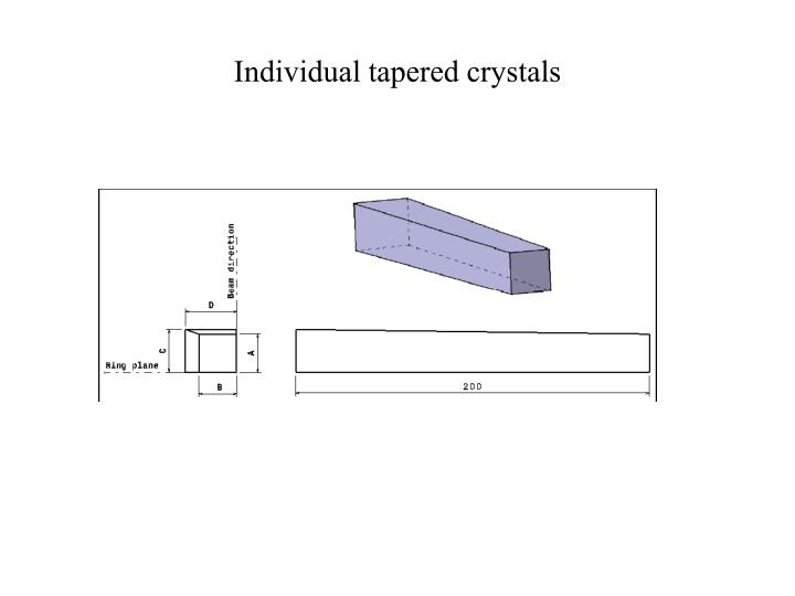 Individual tapered crystals