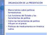 organizaci n de la presentaci n
