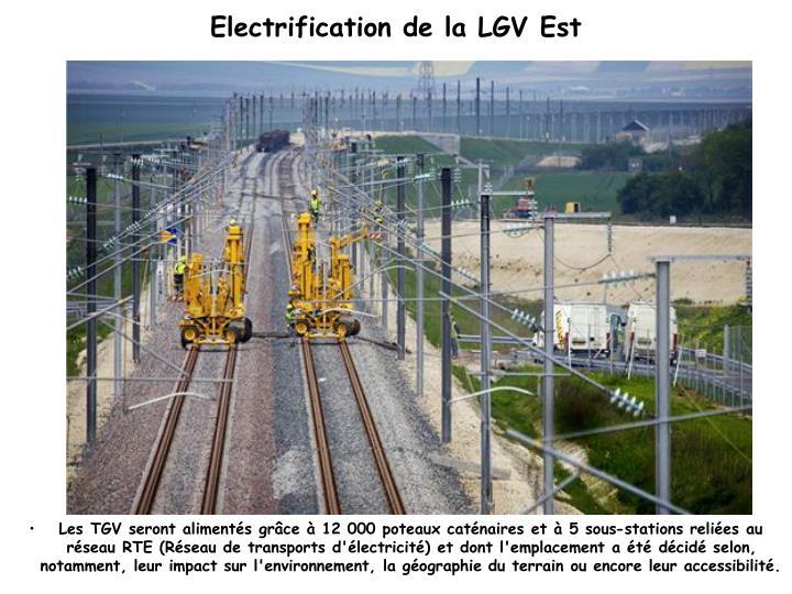Electrification de la LGV Est