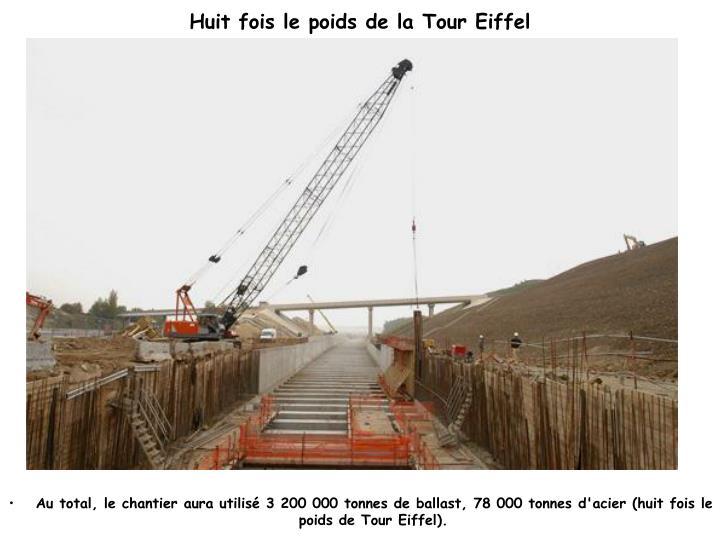 Huit fois le poids de la Tour Eiffel