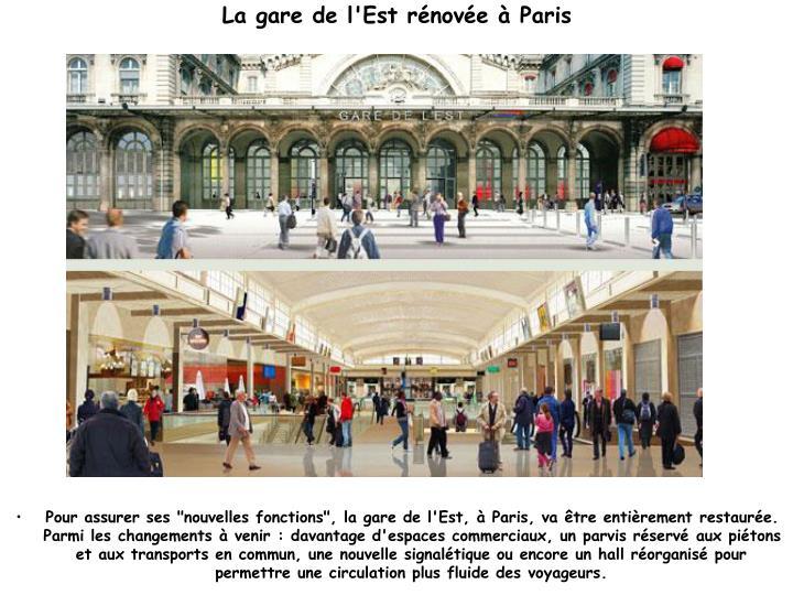La gare de l'Est rénovée à Paris