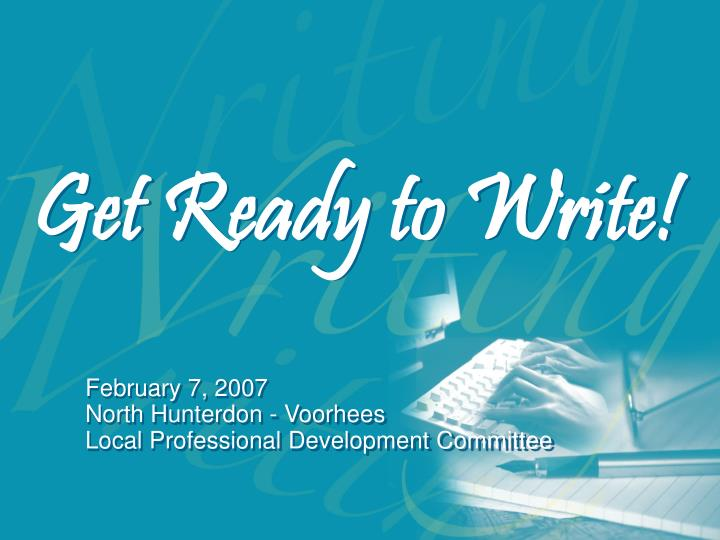 get ready to write n.