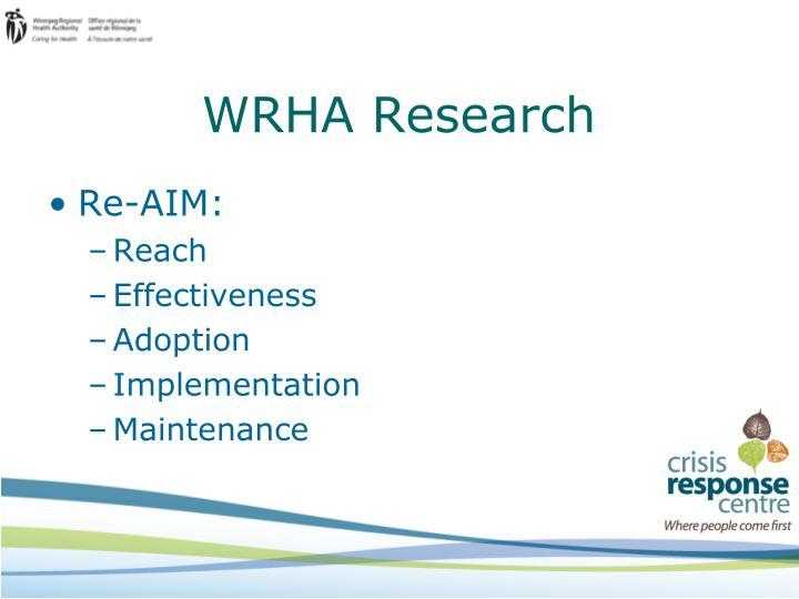 WRHA Research