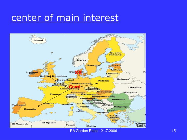 center of main interest