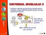criteriul nivelului 3