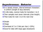 asynchronous behavior