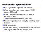 procedural specification