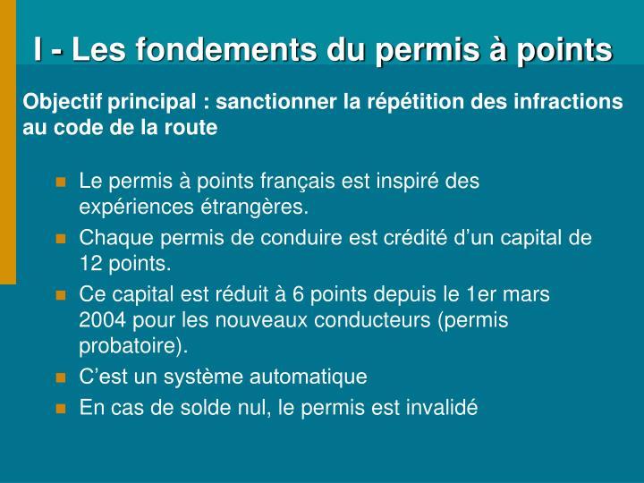 I les fondements du permis points