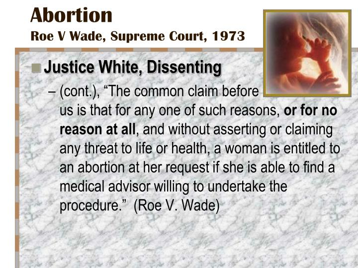 the impact of roe v wade Roe v wade in the early 1970s, the supreme court agreed to hear two cases challenging laws that restricted abortion in roe v wade (1973), the high court.