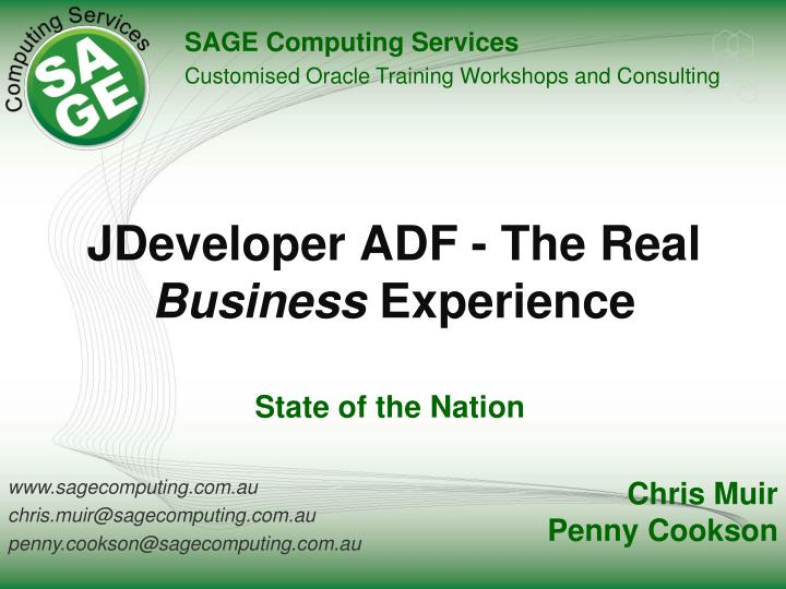 jdeveloper adf the real business experience