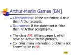 arthur merlin games bm2